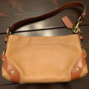 Tan and Brown Coach Leather Purse